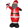 Holiday Living 6.98-ft Inflatable Fabric African American Christmas Santa