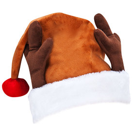 Gemmy Christmas Felt Plush Santa Hat