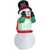 lowes deals on Gemmy 6-ft Inflatable Animatronic Shivering Snowman 89107