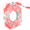 Gemmy Lightshow 10-ft Indoor/Outdoor Multi-Function Red/Pure White LED Christmas Rope Lights with Clear Tubing