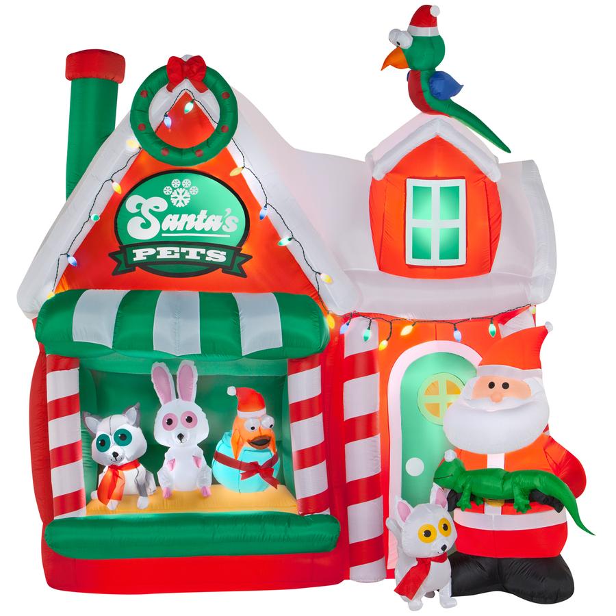 Shop holiday living ft lighted workshop christmas