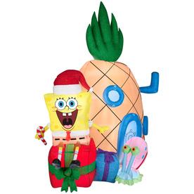 Shop Gemmy 6 98 Ft Lighted Spongebob Christmas Inflatable