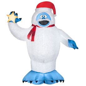 Shop gemmy 6 ft lighted bumble christmas inflatable at for Abominable snowman outdoor decoration