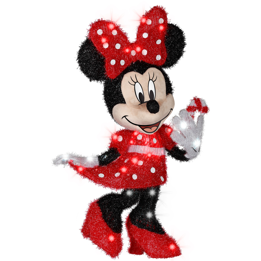 Shop gemmy minnie mouse outdoor christmas - Minnie mouse noel ...
