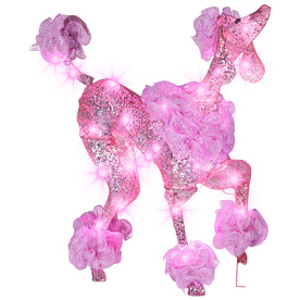 upc 086786899465 product image for gemmy poodle outdoor christmas decoration upcitemdbcom