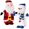 Gemmy Assorted Polyester Musical Animatronic Fabbage Patch Snowman and Santa Christmas Collectible