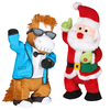 Gemmy Assorted Polyester Musical Animatronic Gangnam Style Santa and Horse Christmas Collectible
