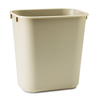 Rubbermaid Commercial Products Beige Plastic Wastebasket