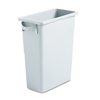 Rubbermaid Commercial Products Slim Jim 15.87-Gallon Light Gray Plastic Commercial Touchless Trash Can