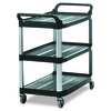 Rubbermaid Commercial Products 37.8-in 0-Drawer Utility Cart
