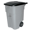 Rubbermaid Commercial Products Brute 50-Gallon Gray Outdoor Wheeled Garbage Can with Lid