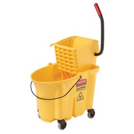 Rubbermaid Commercial Products Wavebreak 35-Quart Plastic Mop Wringer Bucket
