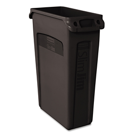 Slim Jim 23-Gallon Black Indoor/Outdoor Garbage Can at Lowes.com