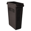 Rubbermaid Commercial Products Slim Jim 23-Gallon Black Plastic Commercial Touchless Trash Can