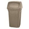 Rubbermaid Commercial Products Ranger 35-Gallon Beige Outdoor Garbage Can Lid(S) Included