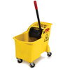Rubbermaid Commercial Products 31-Quart Plastic Mop Wringer Bucket