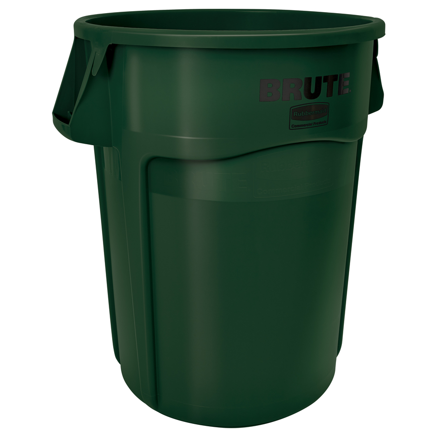 Shop Rubbermaid Commercial Products 55 Gallon Dark Green Indoor Outdoor Garbage Can At