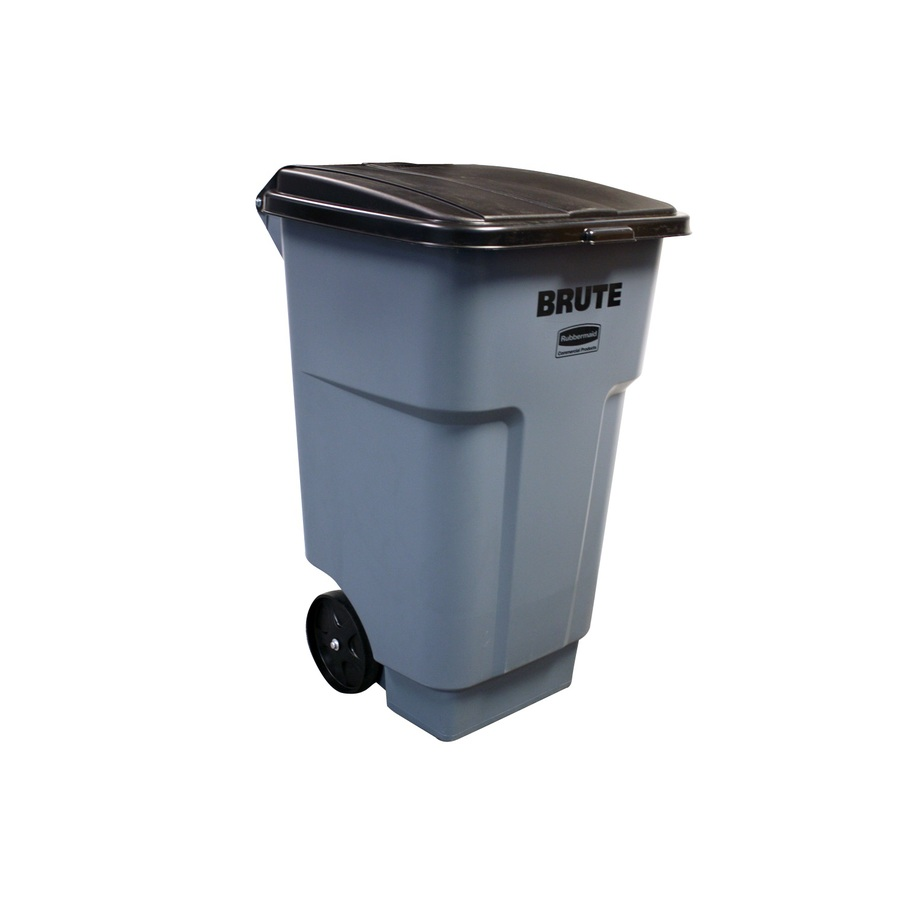 Shop Rubbermaid Commercial Products 48 Gallon Gray Outdoor Garbage Can At Low