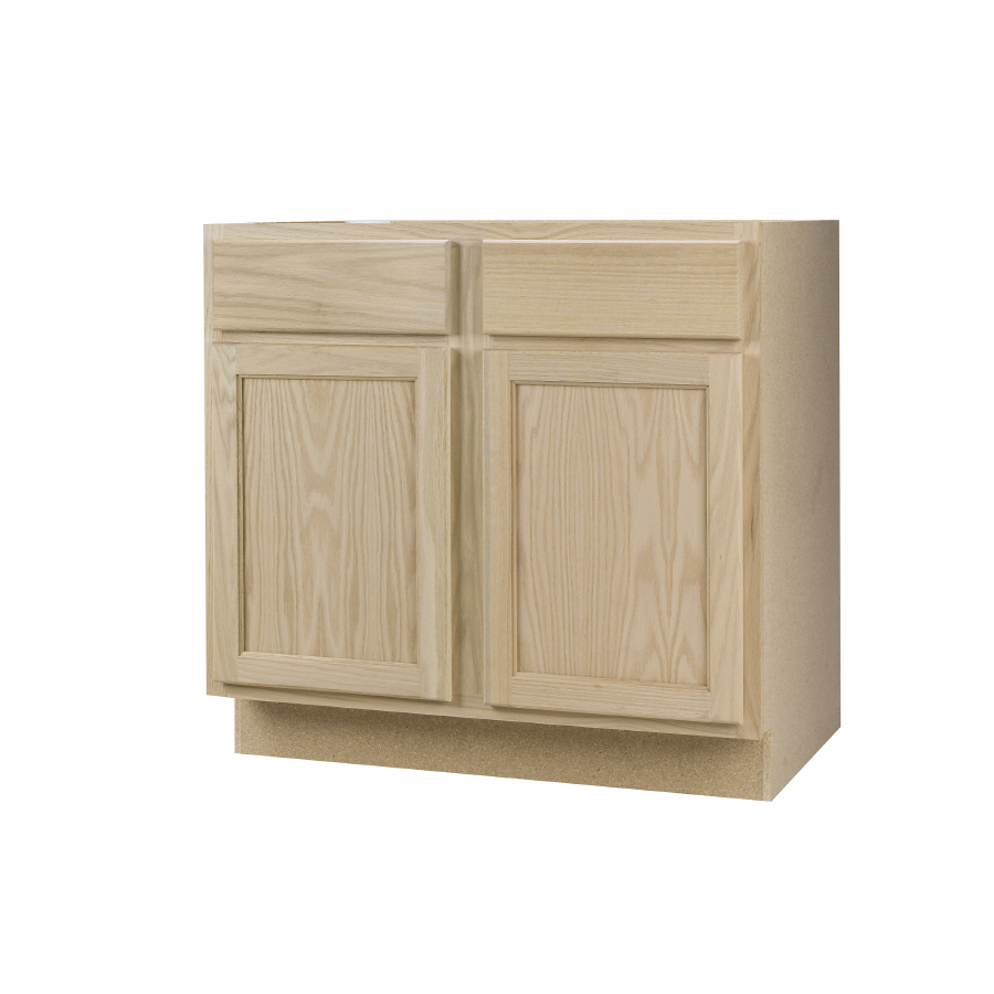 Unfinished Oak Kitchen Base Cabinets