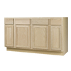 Continental Cabinets, Inc. 60-in W x 34.5-in H x 24-in D Unfinished Oak Sink Base Cabinet