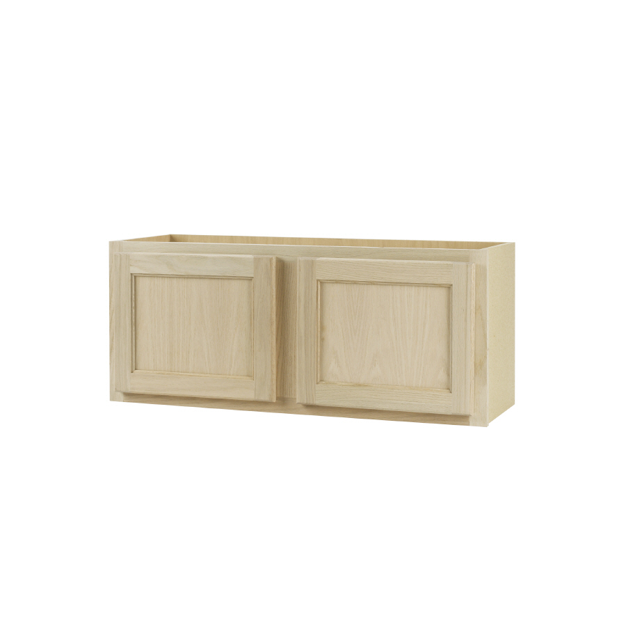 12 In D Unfinished Oak Double Door Kitchen Wall Cabinet At