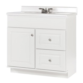 White Bathroom Vanity 30 Inch shop bathroom vanities at lowes