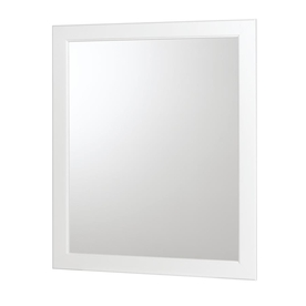 allen + roth 30-in H x 36-in W Castlebrook White White Rectangular Bathroom Mirror