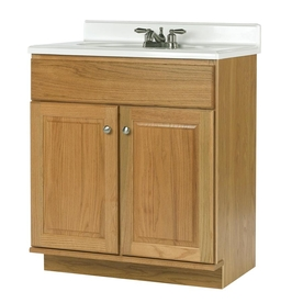 allen + roth Castlebrook Honey Traditional Bathroom Vanity (Actual: 30-in x 21-in)