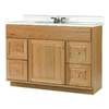allen + roth Castlebrook Honey Traditional Bathroom Vanity (Actual: 48-in x 21-in)