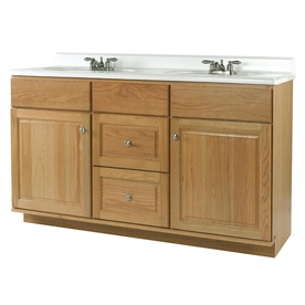 allen + roth 60X21 OAK CASTLEBROOK VANITY