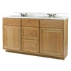 allen + roth Castlebrook Honey Traditional Bathroom Vanity (Actual: 60-in x 21-in)