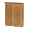 allen + roth Castlebrook 30-in H x 24-in W x 7-3/4-in D Natural Storage Cabinet