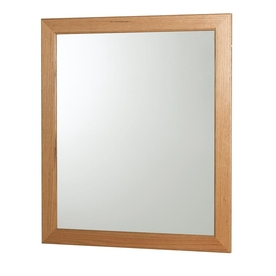 Brilliant Hand Crafted Solid Oak 45cm X 45cm Square Bathroom Mirror