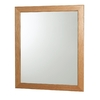allen + roth Castlebrook Oak 36-in W x 30-in H Light Golden Rectangular Bathroom Mirror