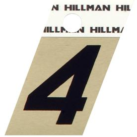 "The Hillman Group 1-1/2"" Black and Gold Aluminum Angle Cut Number 4"
