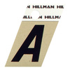 "The Hillman Group 1-1/2"" Black and Gold Aluminum Angle Cut Letter A"