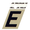 "The Hillman Group 1-1/2"" Black and Gold Aluminum Angle Cut Letter E"