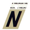 "The Hillman Group 1-1/2"" Black and Gold Aluminum Angle Cut Letter N"