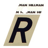 "The Hillman Group 1-1/2"" Black and Gold Aluminum Angle Cut Letter R"