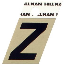 "Hillman Sign Center 1-1/2"" Black & Gold Angle Cut Letter Z"