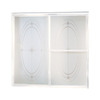 Sterling 59-3/8-in W x 56-1/4-in H White Framed Bathtub Door