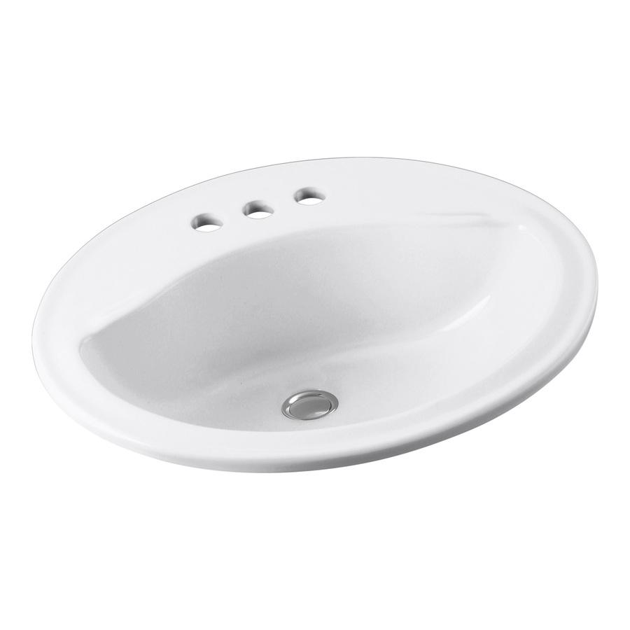 Drop In Bathroom Sinks : ... Sanibel White Drop-In Oval Bathroom Sink with Overflow at Lowes.com