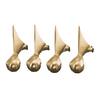 KOHLER Vibrant Brushed Bronze Bathtub Feet