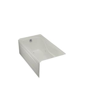 kohler hourglass ice grey acrylic hourglass in rectangle whirlpool tub