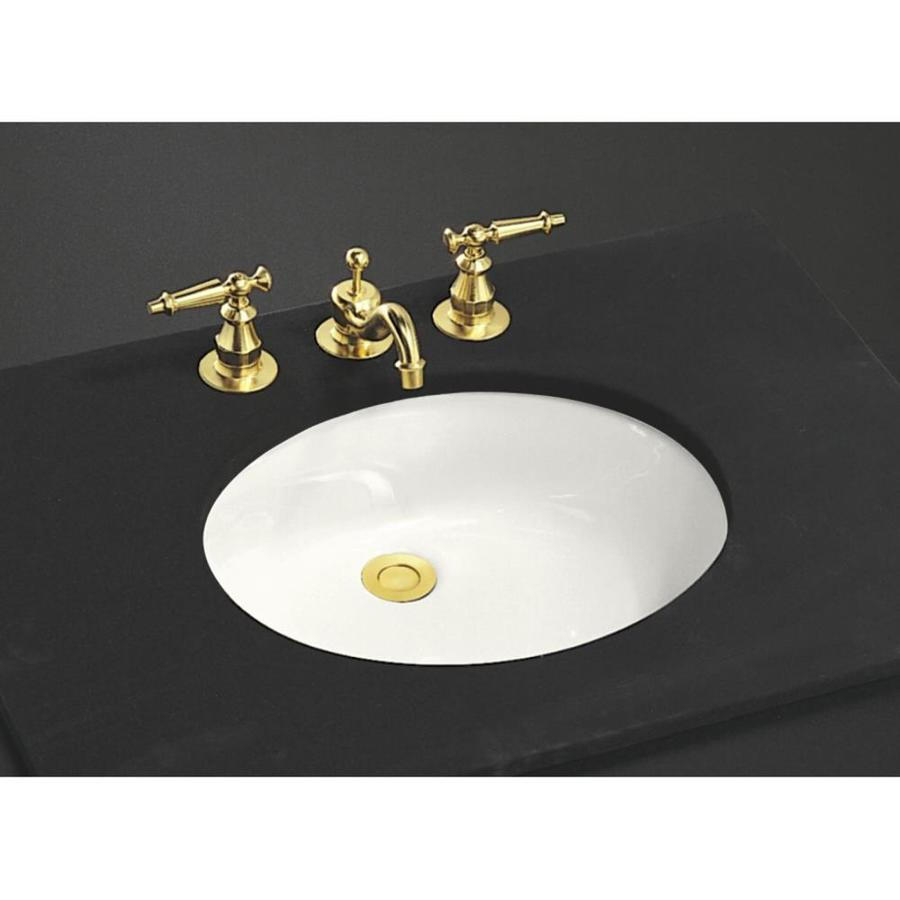 Undermount Bathroom Sink : Shop KOHLER Caxton White Undermount Oval Bathroom Sink at Lowes.com