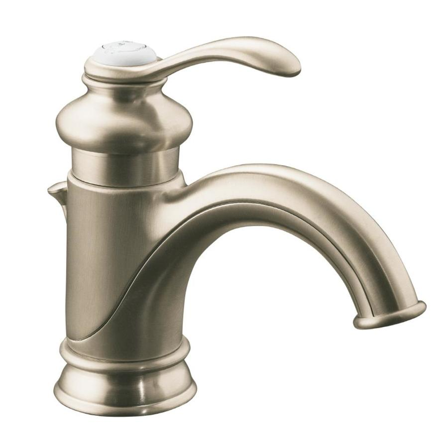 single hole watersense bathroom faucet drain included at