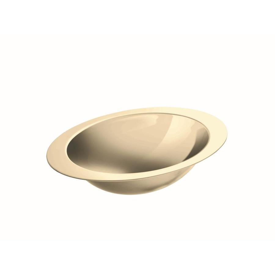 Shop KOHLER Rhythm Mirror French Gold Stainless Steel Undermount Oval Bathroo