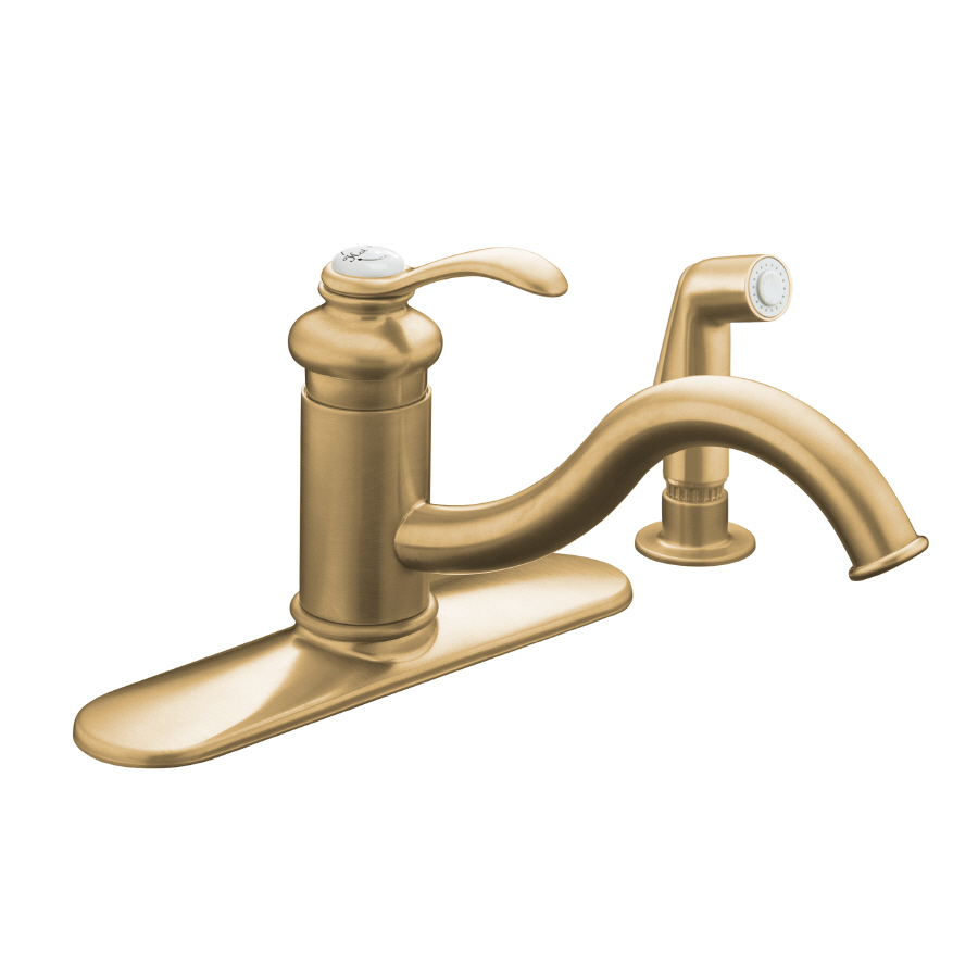shop kohler fairfax vibrant brushed bronze 1 handle low