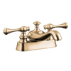 KOHLER RevIVal Vibrant Brushed Bronze 2-Handle 4-in Centerset WaterSense Bathroom Faucet (Drain Included)