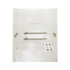 Sterling Acclaim Biscuit Vikrell Wall and Floor 4-Piece Alcove Shower Kit with Bathtub (Common: 30-in x 60-in; Actual: 72-in x 30-in x 60-in)